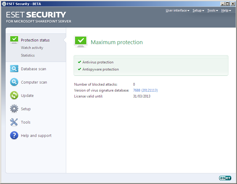 ESET Security for Microsoft SharePoint Server